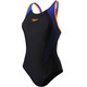 speedo Fit Laneback Swimsuit Women blue/black